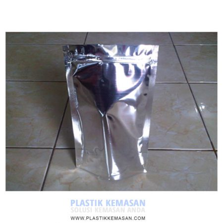 Stand Up Pouch Full Metalizing + Zipper (Klip)